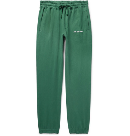tapered-loopback-cotton-jersey-sweatpants by aimé-leon-dore
