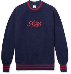 Aimé Leon Dore Logo-Embroidered Cotton-Fleece Sweatshirt
