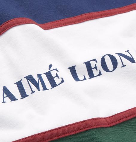 Colour Block Logo Print Cotton Jersey Sweatshirt by Aimé Leon Dore