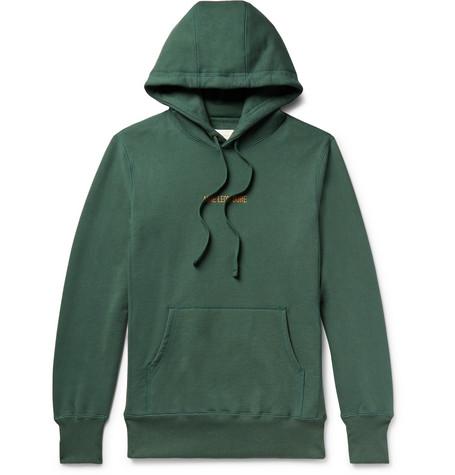 Aimé verde Jersey Dore Print Hoodie en Cotton Loopback Leon Logo aYrfzwqa