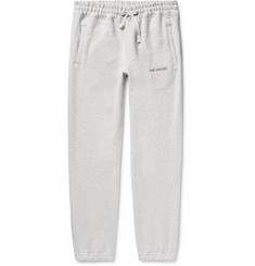 Aimé Leon Dore Tapered Logo-Embroidered Mélange Loopback Cotton-Jersey Sweatpants