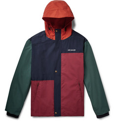 Aimé Leon Dore - Logo-Embroidered Colour-Block Canvas Hooded Parka