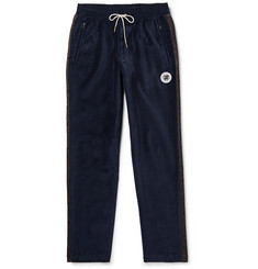 Aimé Leon Dore Slim-Fit Cotton-Velvet Drawstring Track Pants