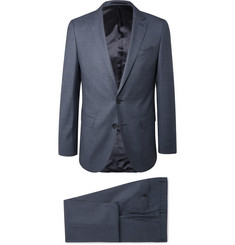 Hugo Boss Navy Slim-Fit Puppytooth Virgin Wool Suit