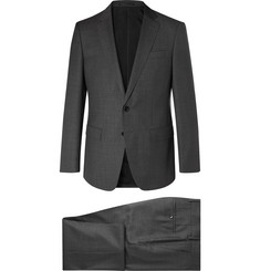 Hugo Boss Dark-Grey Huge Genius Slim-Fit Virgin Wool Suit