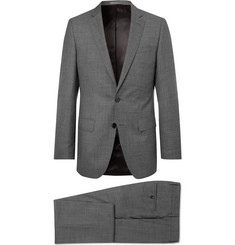 Hugo Boss Grey Slim-Fit Mélange Super 130s Virgin Wool Suit