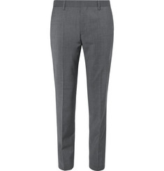 Hugo Boss Grey Genesis Slim-Fit Wool And Cashmere-Blend Suit Trousers
