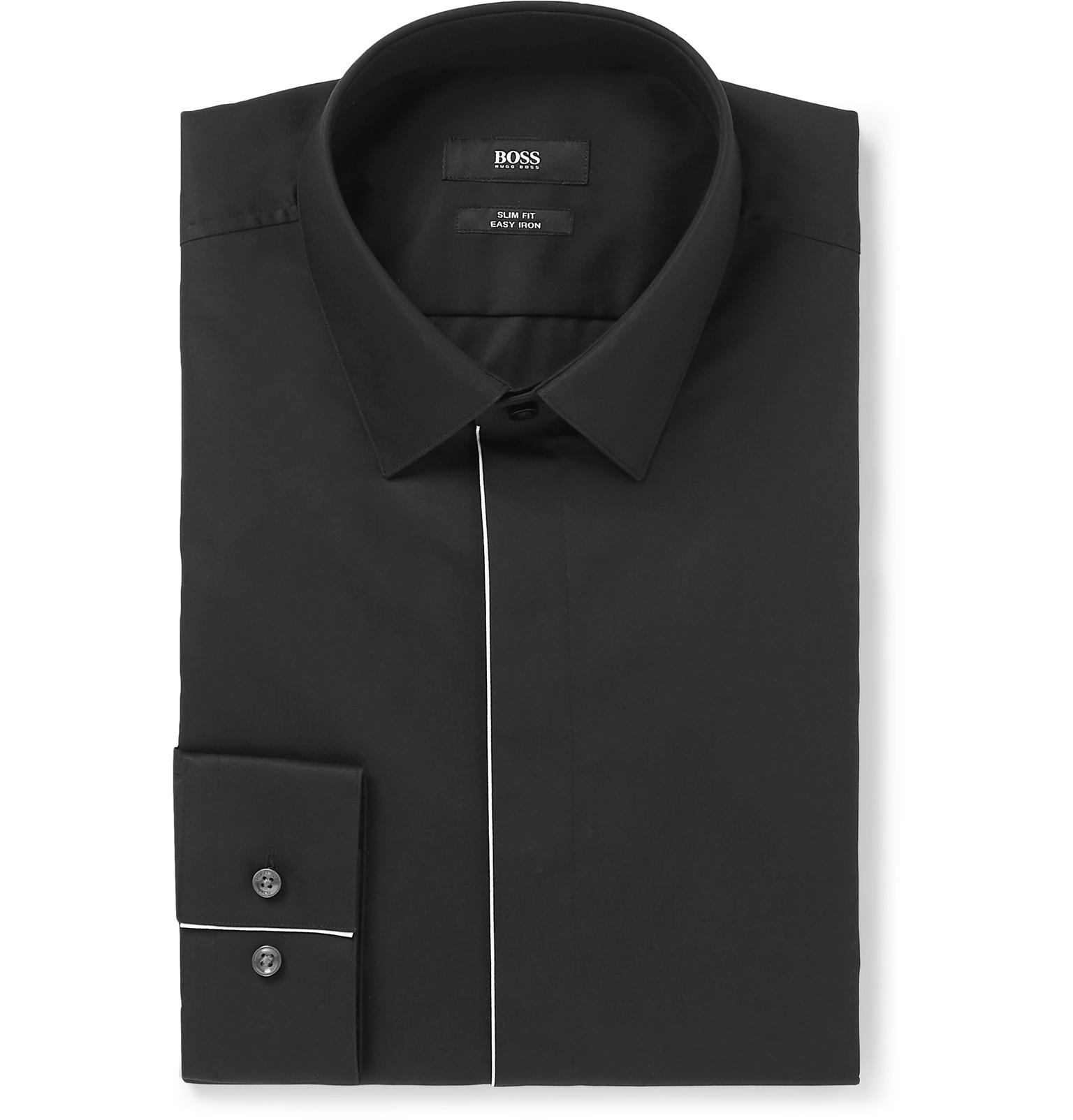 4994686cc Boss Tuxedo Shirt Slim Fit - Nils Stucki Kieferorthopäde