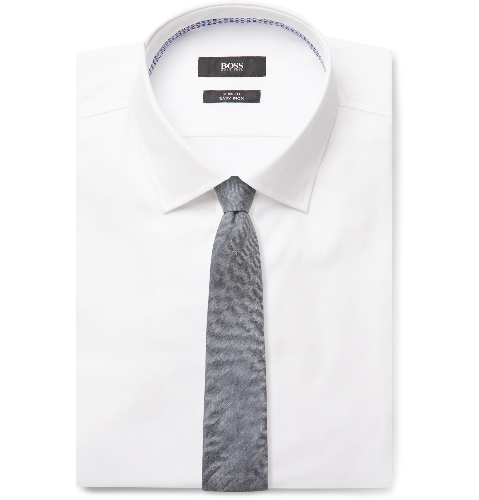 6a7dad4c5 Hugo Boss - White Jesse Slim-Fit Cotton-Poplin Shirt