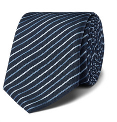휴고보스 실크-트윌 넥타이 Hugo Boss 6cm Striped Silk-Twill Tie,Navy