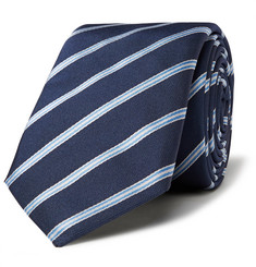 Hugo Boss 6cm Striped Silk-Twill Tie