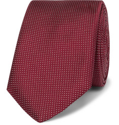 휴고보스 실크 넥타이 Hugo Boss 6cm Pin-Dot Silk Tie,Burgundy