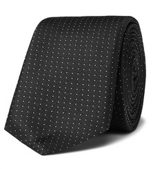 휴고보스 실크-트윌 넥타이 Hugo Boss 6cm Polka-Dot Silk-Twill Tie,Black