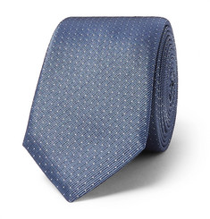 휴고보스 실크-트윌 넥타이 Hugo Boss 6cm Pin-Dot Silk-Twill Tie,Blue