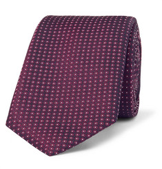 휴고보스 실크-자카드 넥타이 Hugo Boss 6cm Pin-Dot Silk-Jacquard Tie,Dark purple