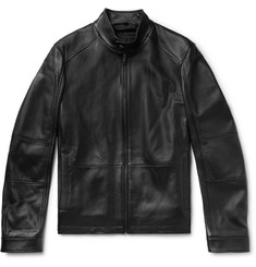 Hugo Boss Leather Café Racer Jacket