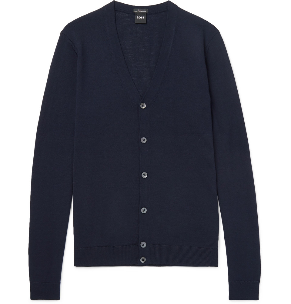 Hugo Boss Mardon Slim-Fit Virgin Wool Cardigan