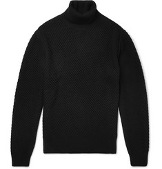 Hugo Boss - Ribbed Virgin Wool, Silk and Cashmere-Blend Rollneck Sweater