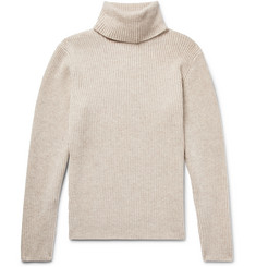 P. Johnson Slim-Fit Mélange Merino Wool and Cashmere-Blend Rollneck Sweater