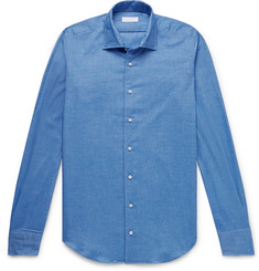 P. Johnson Brushed-Cotton Twill Shirt