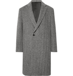 P. Johnson Herringbone Wool Coat