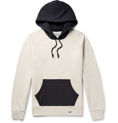 Wacko Maria Printed Colour-Block Loopack Cotton-Jersey Hoodie