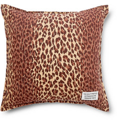 Wacko Maria Leopard-Print Cotton-Corduroy Cushion