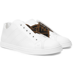 Fendi Reloaded Logo-Trimmed Full-Grain and Smooth Leather Slip-On Sneakers