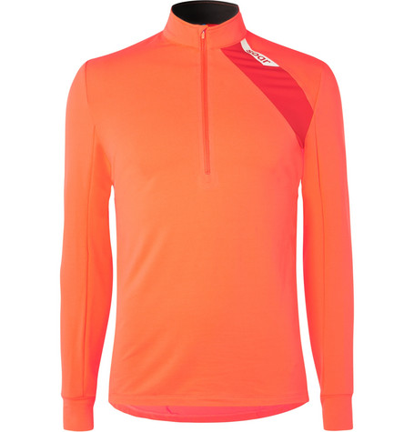 SOAR Mid-Temperature Half-Zip Stretch-Jersey Top - Orange