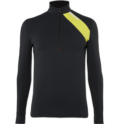 Soar Running Mid-Temperature Half-Zip Stretch-Jersey Top