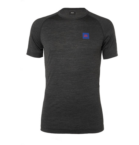 SOAR Wool And Silk-Blend Base-Layer T-Shirt - Charcoal