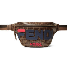 Fendi Leather-Trimmed Logo-Appliquéd Printed Coated-Canvas Belt Bag