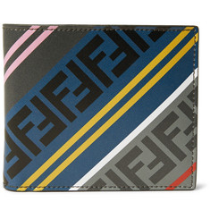 Fendi Logo-Print Leather Billfold Wallet