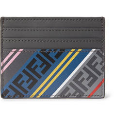 Fendi Logo-Print Leather Cardholder