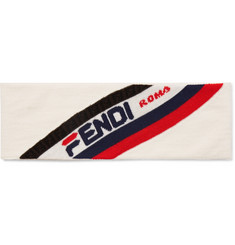 Fendi Logo-Jacquard Wool Headband