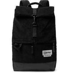 Eastpak Macnee Leather-Trimmed Corduroy Backpack
