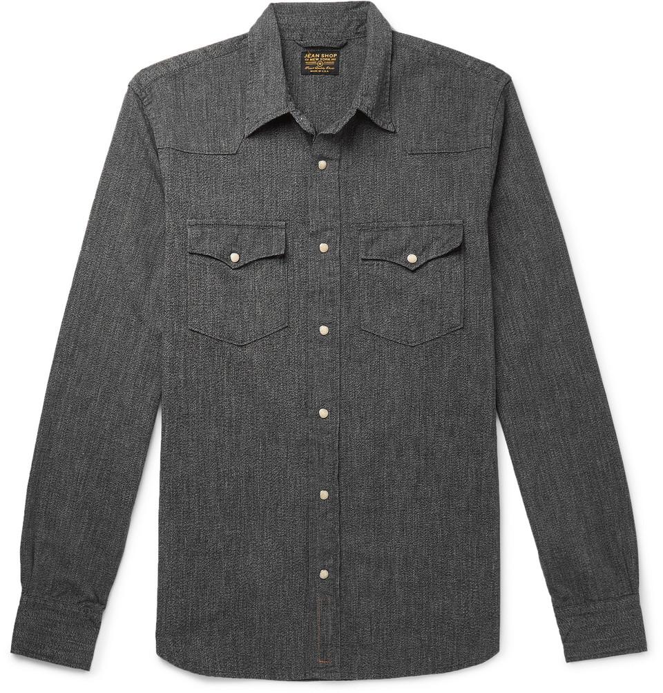 + Jean Shop Denim Shirt - Gray