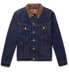 Kingsman + Jean Shop Tequila's Statesman Slim-Fit Blanket-Lined Selvedge Denim Jacket