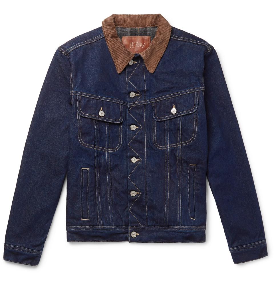 + Jean Shop Tequila's Statesman Slim-fit Blanket-lined Selvedge Denim Jacket - Indigo