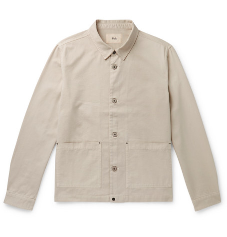 Ripstop Panelled Cotton Twill Jacket by Folk