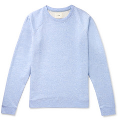 Folk Rivet Mélange Loopback Cotton-Jersey Sweatshirt