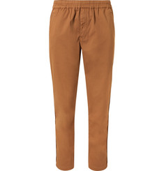 Folk Slim-Fit Garment-Dyed Stretch-Cotton Drawstring Trousers