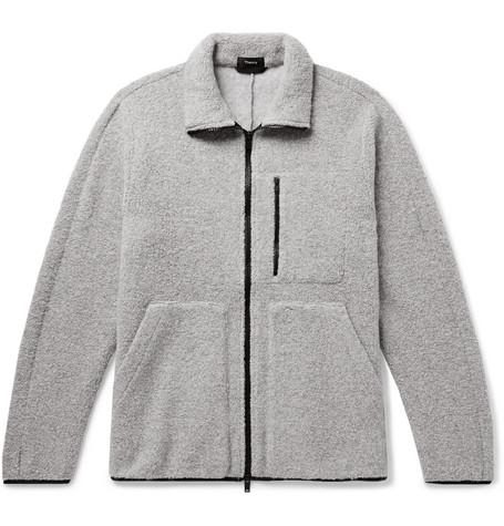 Fleece Gray Jacket Wool Theory blend Mélange Arctic XxwCUItqcx
