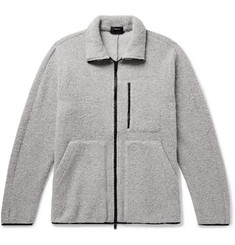 Theory Arctic Mélange Wool-Blend Fleece Jacket