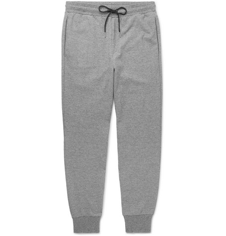 Essential Slim Fit Tapered Mélange Stretch Knit Sweatpants by Theory