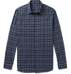 Theory - Checked Cotton-Flannel Shirt