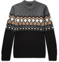 Theory - Rueda Fair Isle Merino Wool Sweater