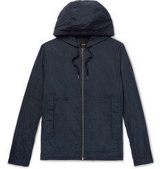 Theory Ditmars Garment-Dyed Nylon Hooded Jacket