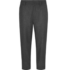 Mr P. - Cropped Wide-Leg Wool-Blend Felt Trousers