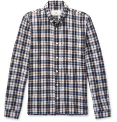 Folk Button-Down Collar Checked Woven Shirt